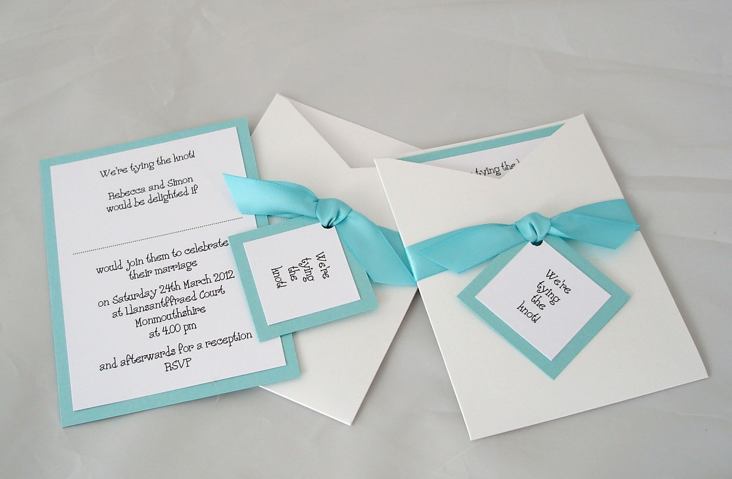Bardot Invitation in Tiffany Blue – Made by Millie and Me: