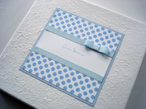 Baby Blue Polka Dot Photo Album