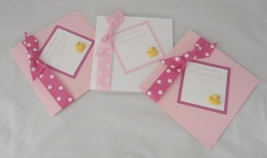 Baby Polka Dot Duck Cards