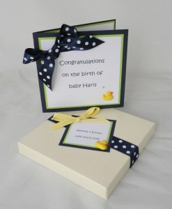 Baby Boy Duck Card Boxed