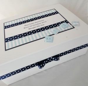 Spots and Stripes Baby Keepsake Box