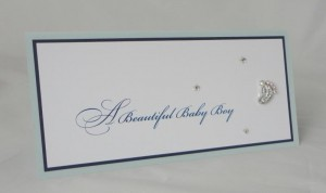 Sparkly Foot Baby Boy Card