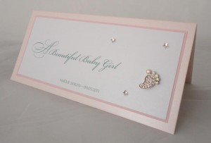 Sparkly Foot Baby Girl Card