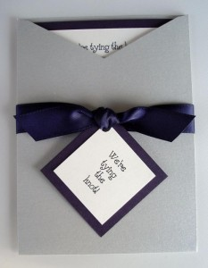 Bardot Silver and Purple Invitation
