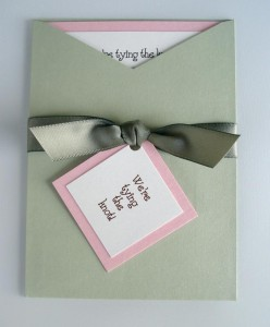 Bardot Sage and Pink Invitation