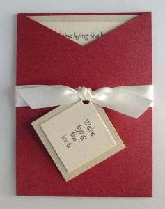 Bardot Red and Ivory Invitation