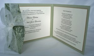 Bespoke Wedding Invitation 2