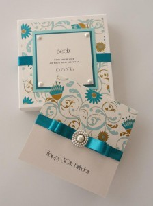 Turquoise Print Card