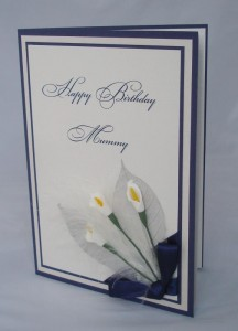 Flowers and Leaves Birthday Card