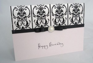 Damask Birthday Card