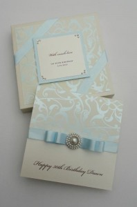 Duck Egg Blue Birthday Card