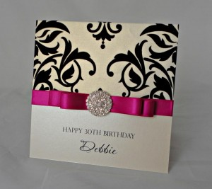 Dior Bow Damask Print Card