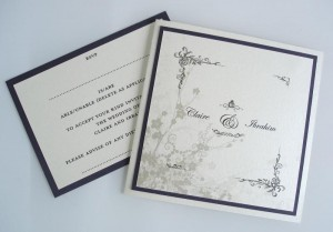 Clarence Ivory and Purple Invitation