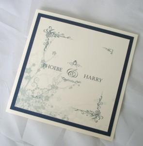 Clarence Ivory and Navy Invitation