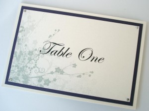 Clarence Purple and Ivory Table Name