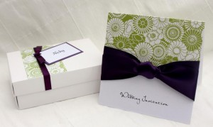 Ela Floral Invitation and Favour