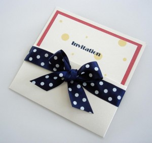 Spotty Invitation Pocket