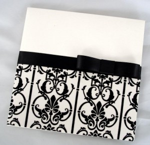 Grace Black and White Flock Paper