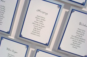 Hollywood Blue and Silver Table Plan