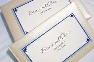 Hollywood Blue and Silver Guest Book