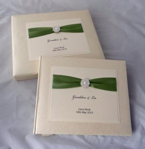 Meredith Guest Book Green Ribbon