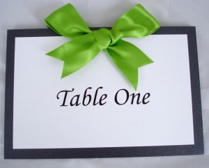 Oleron Lime Green Table Numbers