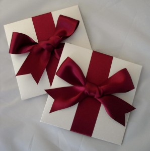 Oleron Invitations Red Bows