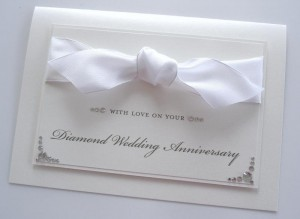 Diamond Ribbon Anniversary Card