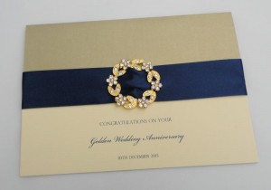 Gold Buckle Anniversary Card