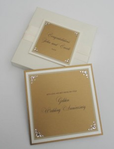 Perry Anniversary Boxed Card (Gold)