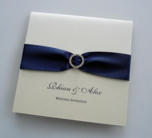 Petrina Invitation in Navy