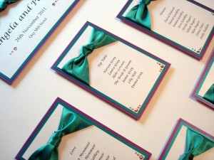 Rialto Table Plan Purple & Teal