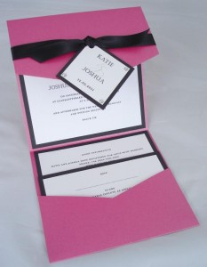Rialto Invitation in Fuscia & Black