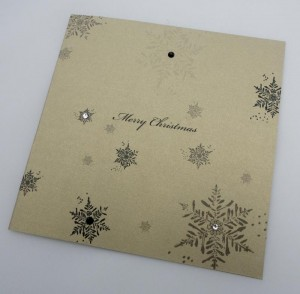 Gold Snowflake Card