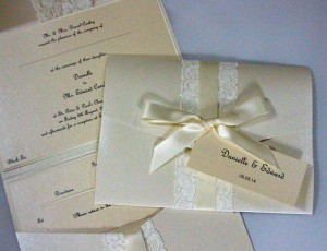 Victoria Lace Pocket Invitation