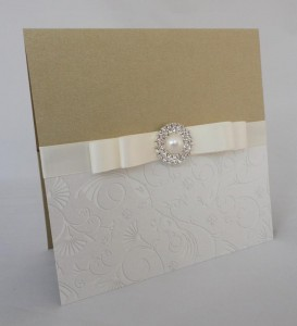 Warwick Gold and Ivory Invitation