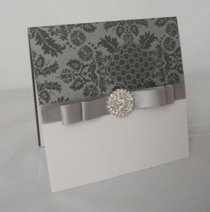 Warwick Graphite Grey Invitation